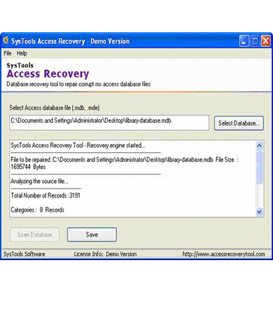 SysTools Access Recovery Access資料回復軟體